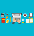 working process banner flat style vector image vector image