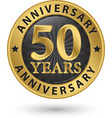 years anniversary gold label vector image vector image