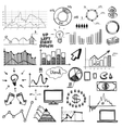 hand draw doodle web charts business finanse vector image