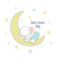 sweet dreams a little elephant sleep on the moon