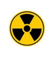 radiation danger sign caution chemical hazards vector image