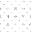 academy icons pattern seamless white background vector image vector image