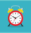 alarm clock wake-up time in at work vector image vector image