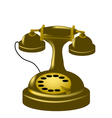 antique phone vector image