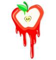apple meltdown vector image