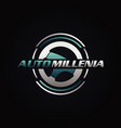 automotive driving steer logo design vector image vector image