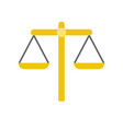 balance scale law and justice icon vector image