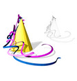 birthday hats with serpentine vector image vector image