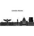 canada regina architecture city skyline vector image vector image