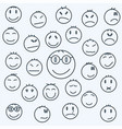 cartoon emotional faces set comics expressed vector image vector image