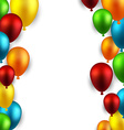 Celebrate frame background with balloons vector image vector image