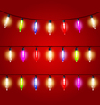 Christmas Lights - carnival electric bulbs strung vector image