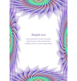 Colored page border design template vector image vector image