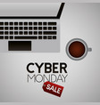 cyber monday shop vector image vector image