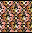 damask seamless pattern vintage floral vector image vector image