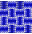 Design seamless blue knitted pattern vector image