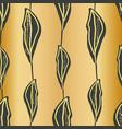 elegant slate hand drawn leaves in vertical vector image