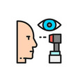 eye verification scanning color line icon vector image