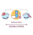 eyebrow tattoo concept icon beauty service idea vector image vector image
