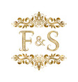 f and s vintage initials logo symbol vector image vector image
