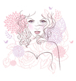 face flower vector image vector image