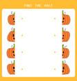 find half for halloween pumpkin vector image vector image