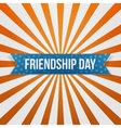 Friendship Day greeting blue paper Banner vector image vector image