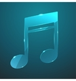glass music icon vector image vector image
