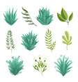 greenery branches green realistic spring grasss vector image vector image