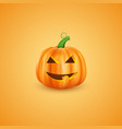 halloween pumpkin in 3d realistic style happy vector image