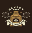 handcrafted bakery shop badge logo vector image