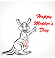 Happy Mother and Baby Kangaroo vector image