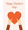 happy valentines day greeting card cute flat vector image