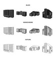 isolated object of facade and housing symbol set vector image vector image