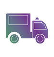 line trunk vehicle transportation to delivery vector image vector image