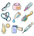 medicines and pharmaceutical products icon set vector image vector image