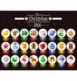 Merry Christmas icon set with Xmas icons advent vector image vector image