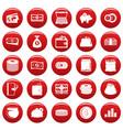 money icons set vetor red vector image