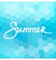 Mosaic Geometric Background with Text Summer vector image vector image
