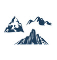 mountains silhouettes black color on white vector image vector image