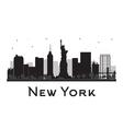 New York City skyline black and white silhouette