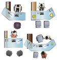 Office furniture top view set 7 vector image vector image