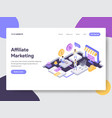 online shopping affiliate marketing isometric vector image vector image