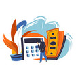 planning budget and financial assets vector image