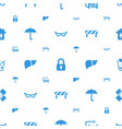 protection icons pattern seamless white background vector image vector image