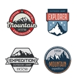 set vintage mountain outdoor labels vector image