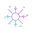 snow flakes icon design vector image vector image