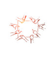 team building exercise deaf mute vector image