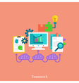 Teamwork and brainstorm flat concept vector image vector image