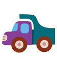 truck toy flat isolated object on a white vector image vector image